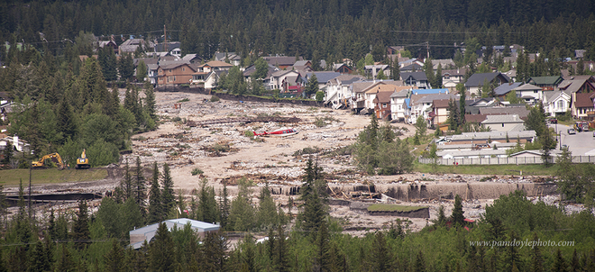 Canmore Cougar Creek Flood Canmore, Alberta Canada