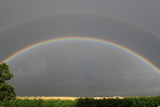 Double Rainbow Swift Current, Saskatchewan Canada