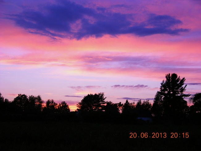 Beautiful ending of a nice day Salisbury, New Brunswick Canada