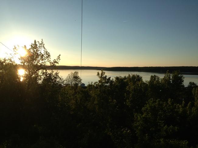Sunset over Sandy Beach Kenosee Lake, Saskatchewan Canada