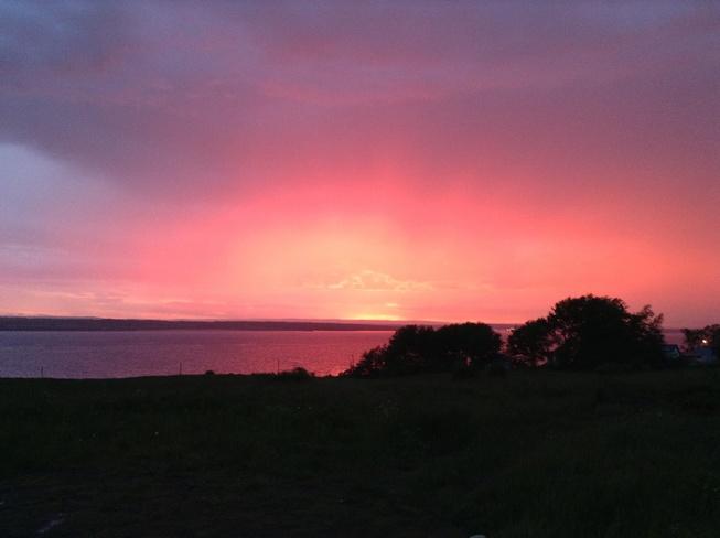 The Red Sky Sydney, Nova Scotia Canada