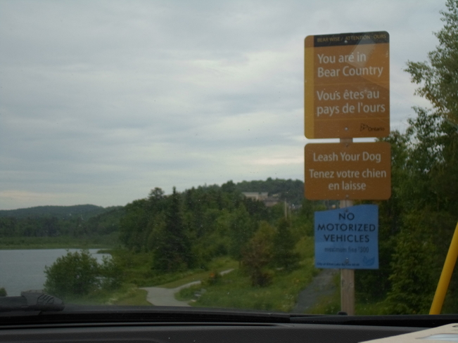 it is signs like this that remind us where we are Elliot Lake, Ontario Canada