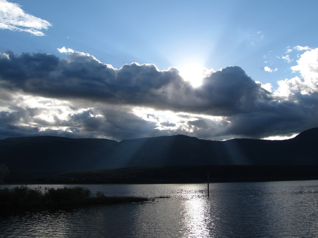 sunset on the lake Salmon Arm, British Columbia Canada