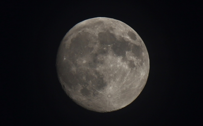 Waxing Gibbous Moon - 98% of Full Prince George, British Columbia Canada