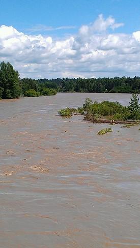 fast Flowing Red Deer River Red Deer, Alberta Canada