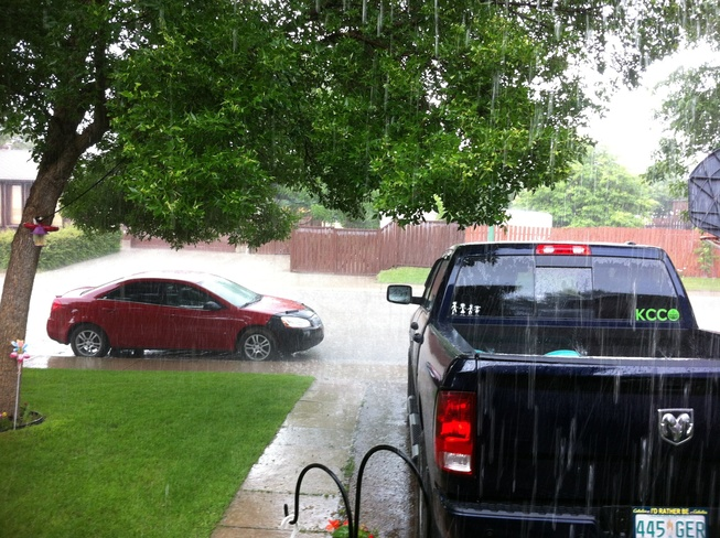 sudden downpour Saskatoon, Saskatchewan Canada