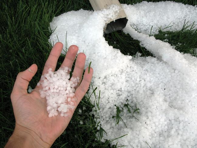 Hail Storm in Red Deer, Alberta Red Deer, Alberta Canada