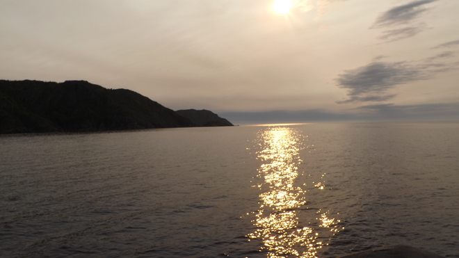 Sun rise over Green Bay, NL Nippers Harbour, Newfoundland and Labrador Canada
