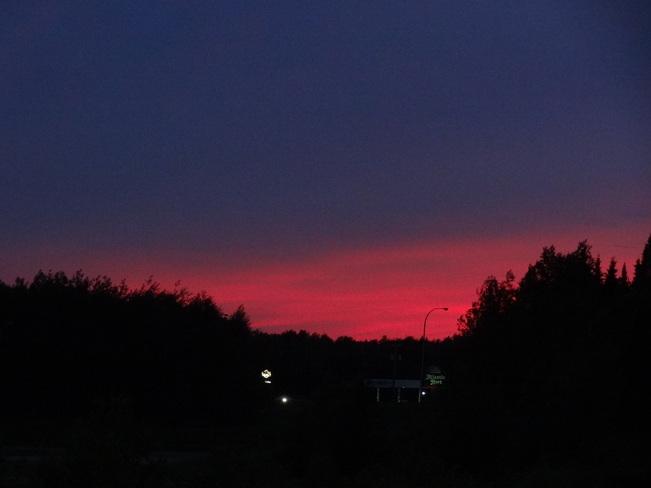 After sunset Bathurst, New Brunswick Canada