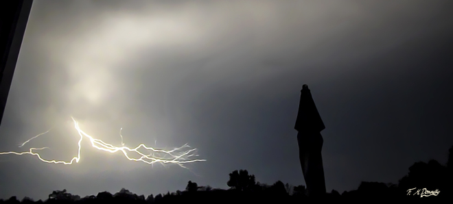 Lightning during yesterdays storm Smiths Falls, Ontario Canada