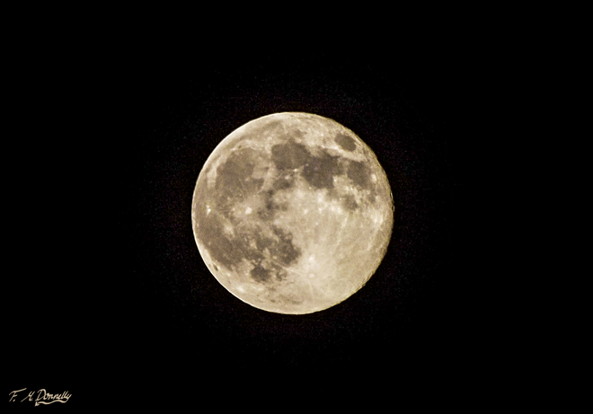 Super Moon near Port Elmsley Smiths Falls, Ontario Canada