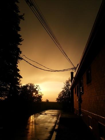 after the storm Saint-Urbain-Premier, Quebec Canada