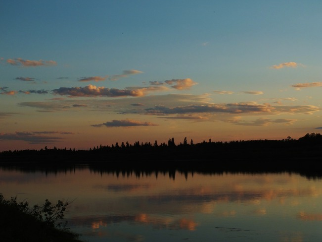 sunset Moose Factory, Ontario Canada