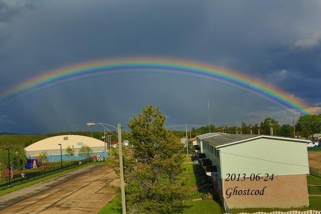 A rainbow Swan Hills, Alberta Canada
