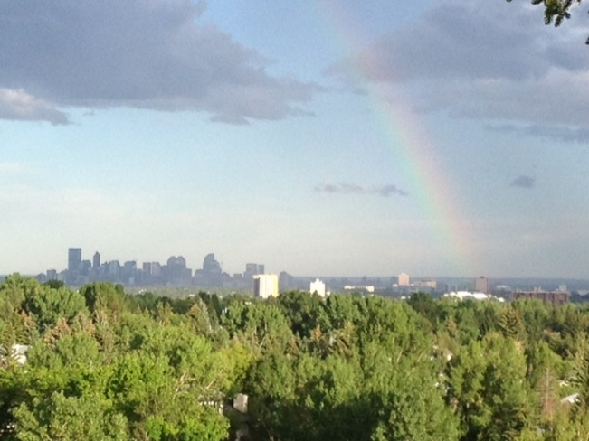 "Silver Lining for our ""Rain Bow"" City Calgary, Alberta Canada"