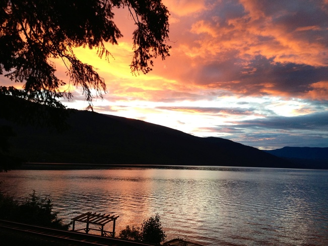 After a deluge of rain Sicamous, British Columbia Canada