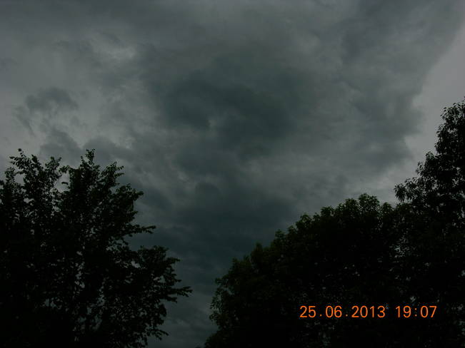 Dark clouds have arrived Salisbury, New Brunswick Canada