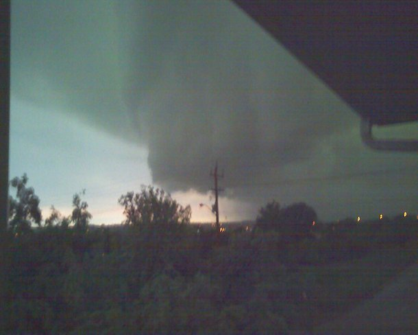 Looming storm cloud approaching quickly Brandon, Manitoba Canada