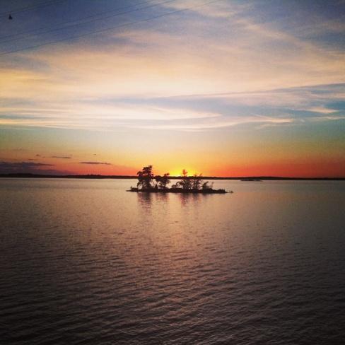 Sunset on Rainy Lake Fort Frances, Ontario Canada