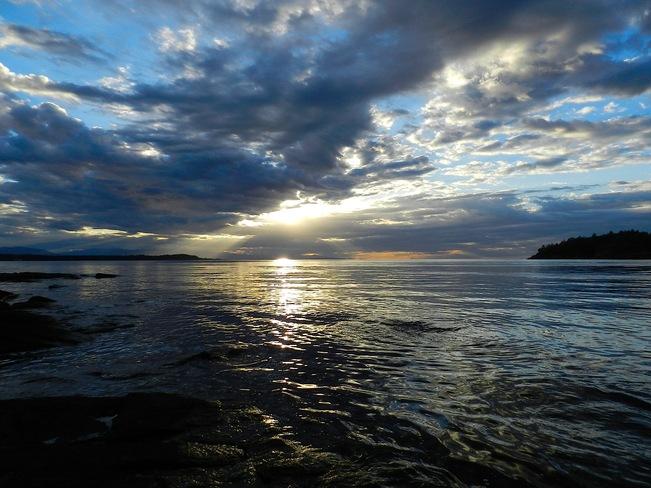 Sunset Rays Nanoose Bay, British Columbia Canada