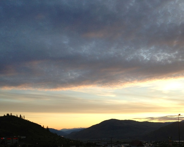 sunrise on the hill Kamloops, British Columbia Canada