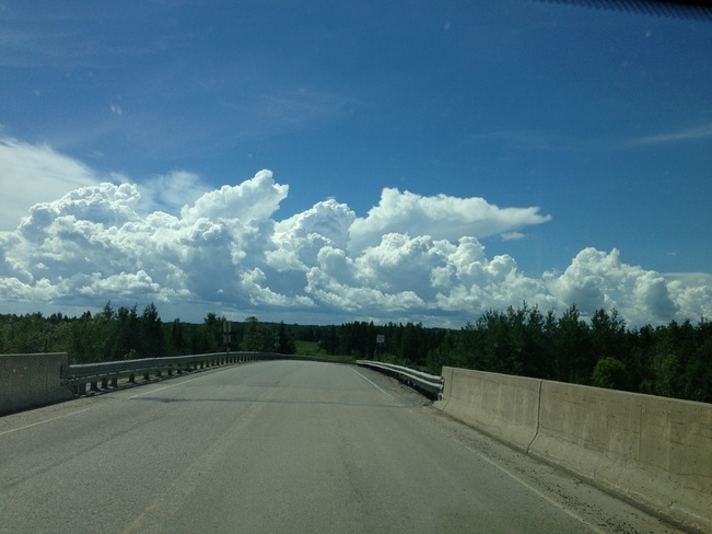clouds and a bridge... Sioux Lookout, Ontario Canada