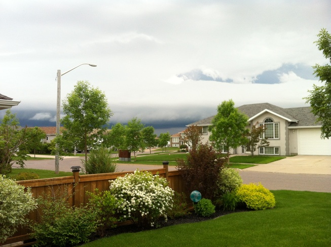 Summer storm rolling in Thunder Bay, Ontario Canada