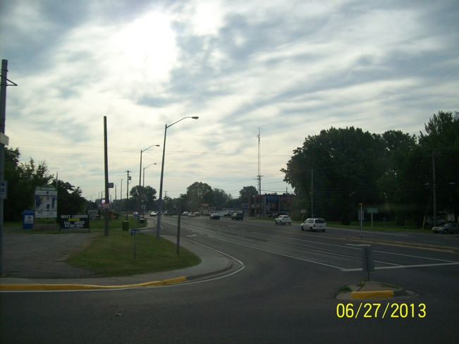 This mornings Cloud cover over Dundas street Belleville, Ontario Canada