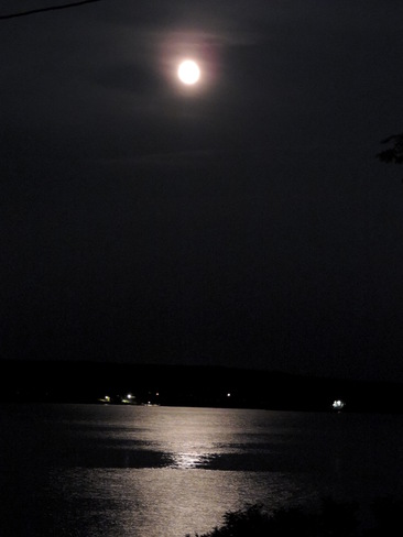 Moon Light Lewisporte, Newfoundland and Labrador Canada