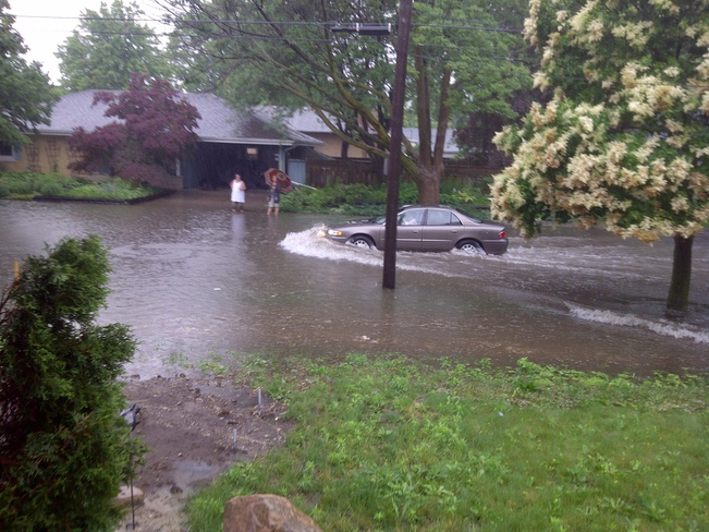 Our Street is Flooded Kitchener, Ontario Canada