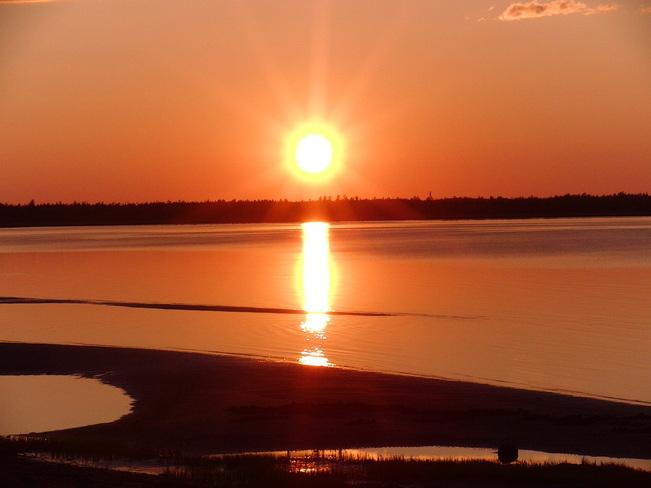 sunset on the bay Miramichi, New Brunswick Canada