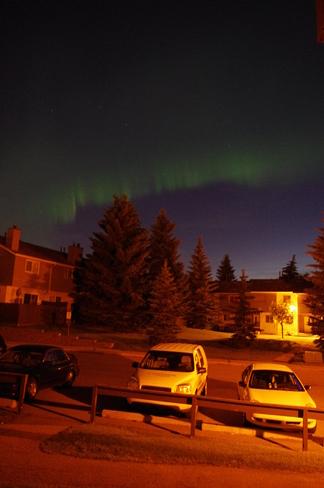 green sky Calgary, Alberta Canada