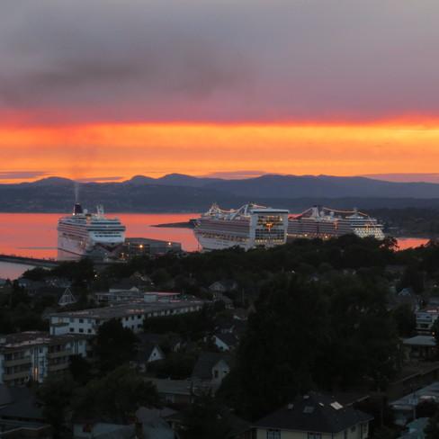 Sunset in Victoria Victoria, British Columbia Canada