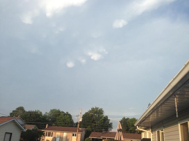 Mammatus clouds?.... Rockland, Ontario Canada