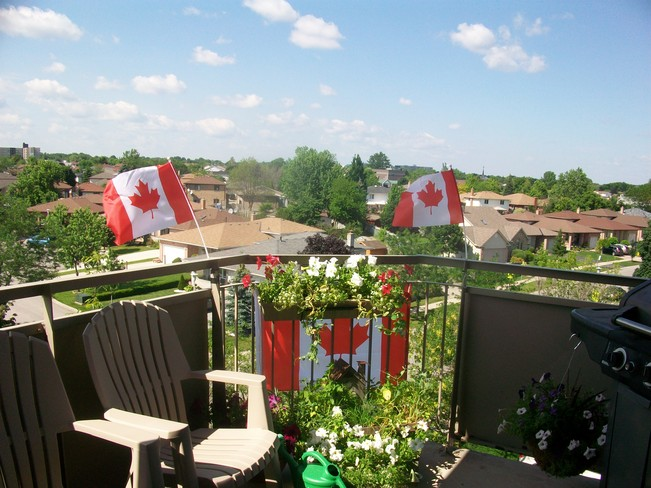 patio view of a nice day London, Ontario Canada