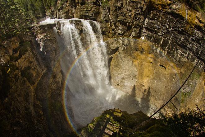 Two Circle Rainbows @ Johnston Canyon Banff, Alberta Canada