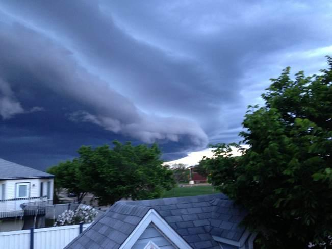 storm over GP Grande Prairie, Alberta Canada