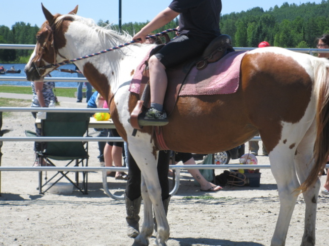 horse riding at Canada Day Chapleau, Ontario Canada