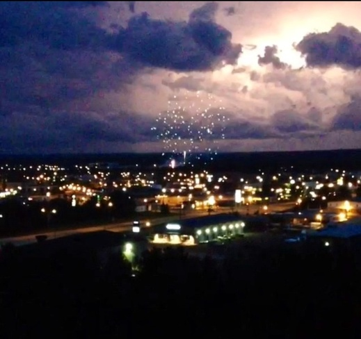 lighting and fireworks Thompson, Manitoba Canada
