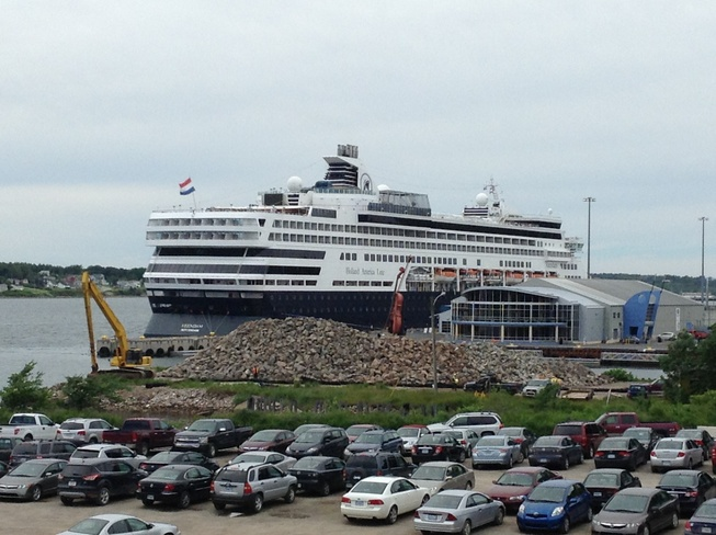 Cruise ship in cool weather Sydney, Nova Scotia Canada