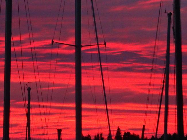 sunset Comox, British Columbia Canada