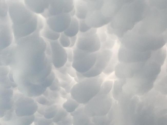 the clouds look like bubbles Camrose, Alberta Canada