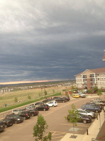 cloudy and wind Fort McMurray, Alberta Canada