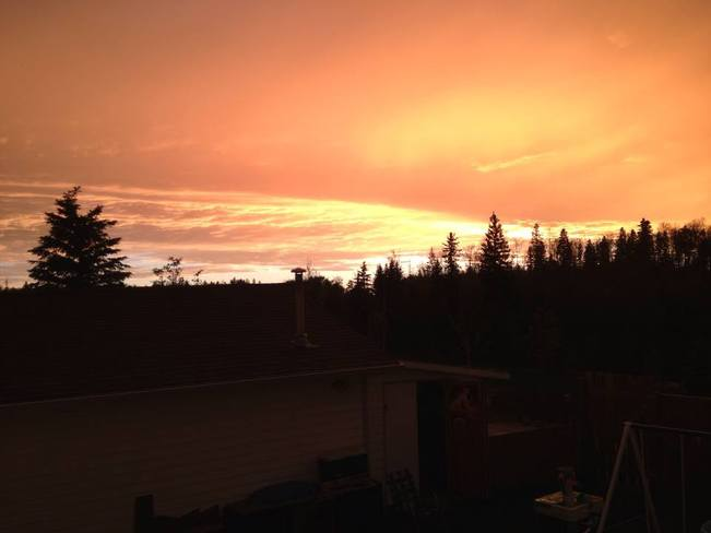 Sunset Fort McMurray, Alberta Canada