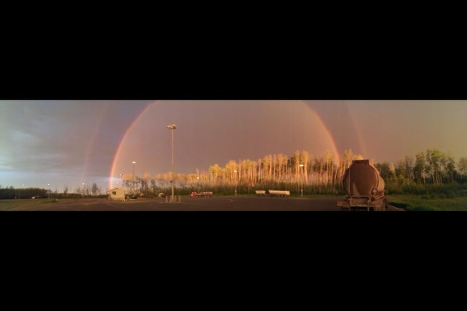 After the rain Fort McMurray, Alberta Canada