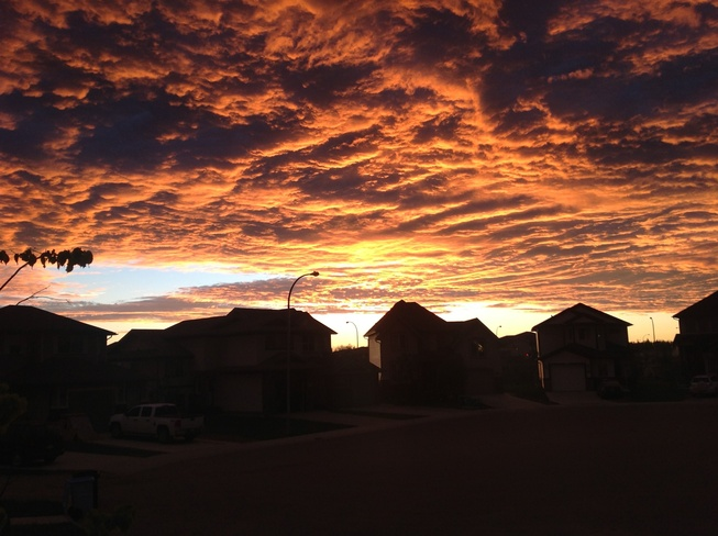 Sky on fire Fort McMurray, Alberta Canada