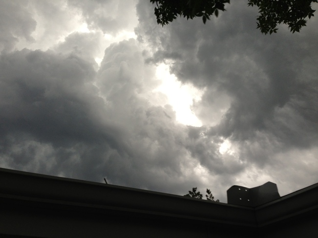 Storm clouds forming from patio Edmonton, Alberta Canada