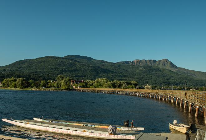 Slmon Arm wharf gorgeous day Salmon Arm, British Columbia Canada