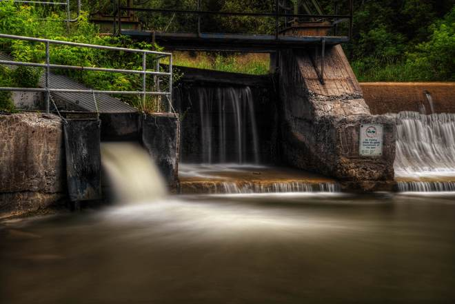 Bowmanville Creek Fish Ladder Bowmanville, Ontario Canada