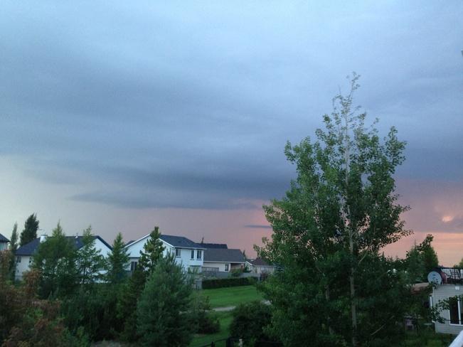 scary cloods Calgary, Alberta Canada